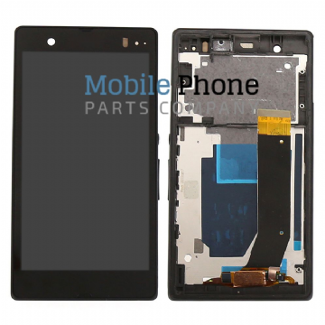 Sony Xperia Z L36H LCD + Digitiser With Frame - Black
